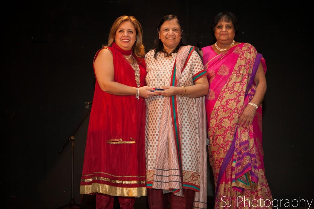 Award Recipient: Asha Jain with The Honourable MPP Christina Martins (Davenport) and Executive Director of SAWC Kripa Sekhar