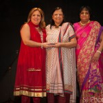 Award Recipient: Asha Jain with The Honourable MPP Christina Martins (Davenport) and Executive Director of SAWC Kripa Sekhar